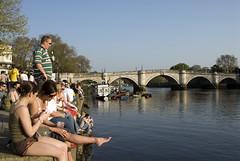 AFS-070340.jpg (Alex Segre) Tags: uk travel bridge summer england people london europe afternoon waterfront riverside britain relaxing richmond leisure riverfront riverthames banks alexsegre