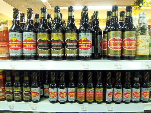 Collection of soy sauce in store courtesy of Simon Law
