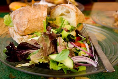 avocado and cheddar sandwich