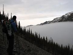 Clouds coming up Copper Creek