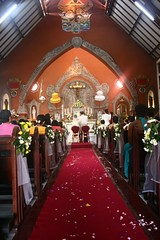 cozy (Farl) Tags: wedding bali church indonesia catholic interior dia altar aisle tradition vows rites redcarpet denpasar matrimony farl stjosephchurch kayon