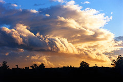 Southerly front (Daniel Murray (southnz)) Tags: sunset newzealand sky storm weather clouds landscape scenery front nz southisland southnz eos50escanfromprint