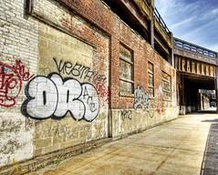 New York Graffiti (Stuck in Customs) Tags: pictures lighting street city newyorkcity blue light sky panorama newyork art texture colors lines modern clouds composition work reflections painting photography intense acc nikon perfect exposure shoot artist mood all photographer shot angle photos unique background details poor d2x perspective drawings atmosphere images best crew edge processing pro framing capture tones hdr dro treatment mostviewed streetdance highquality stuckincustoms allcitycrew treyratcliff