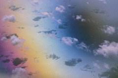 Clouds from above (ScreaminScott) Tags: ocean clouds rainbow shadows aerial