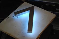 backlit house number