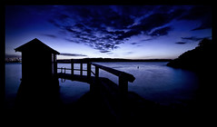 Ce Qui Me Manque (markdanielowen) Tags: camp cove campcove vaucluse silhouette watsonsbay watsons bay bathing box bathingbox beach hut beachhut pier jetty rocks sky clouds dramaticclouds dramatic sydney nsw newsouthwales new south wales sydneyharbour harbour swimming sand head southhead cbd lights vignetting vignette path tree bravo dock leadinline leadinlines blue bluehues sunset sundown dusk twilight australia coast shore moss blueribbonwinner supershot impressedbeauty tribesandhya markdanielowen canon30d canoneos30d canon eos 30d dslr digital slr digitalslr markowen markowenphotography colorphotoaward