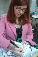 Mikhaela drawing at Miriam's
