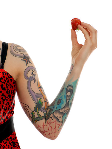 Tattoo girl · Attitude · Strawberry and tattoos