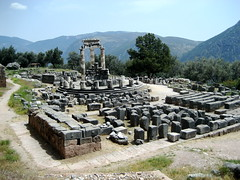 Tholos Ruins at Delphi - 2 (Josh Clark) Tags: ancient ruins delphi greece athena tholos