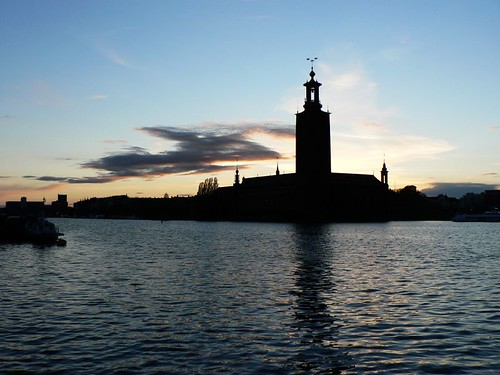 my first Sunset in Stockholm