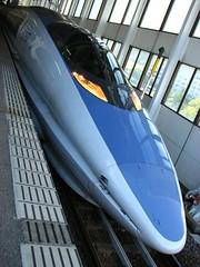 500系新幹線 500-series Shinkansen (kamoda) Tags: station japan train transport railway jr hiroshima bullet 新幹線 shinkansen 2007 広島