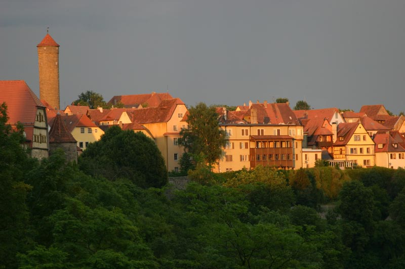 Sunset at Rothenberg ob der Tauber