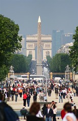 Champs Elysee (gkamin) Tags: paris france arcdetriomphe placedelaconcorde champselysee obelisque