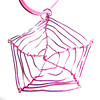 Cobweb Pendant in pink wire with pink cord