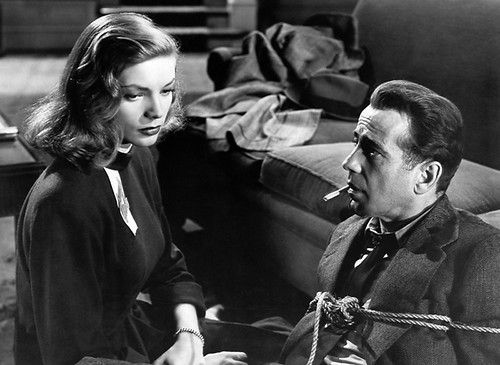 Bogart won't be able to use his ticket unless Bacall helps him out of this jam