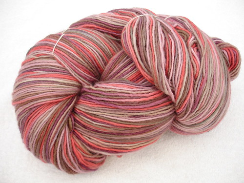 Brown Sheep Lamb's Pride worsted, hand dyed at Springwater