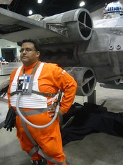 Guarding the X-wing (The Official Star Wars) Tags: starwars xwing starwarscelebration celebrationiv