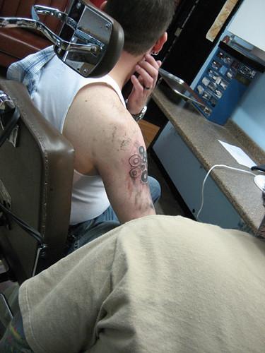 Exile Tattoo. Kansas city. circles