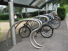 RATP Bike Shelter - racks (brunoboris) Tags: paris bike bicycle metro velo bikerack pontdesevres boulougne abrivelo
