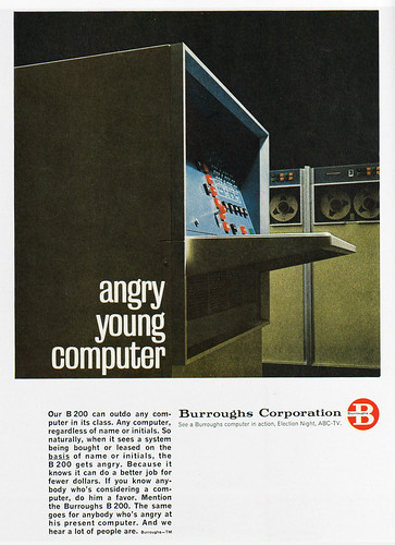 1960s Advertising - Magazine Ad - Burroughs Corporation (USA) / Daniel Yanes Arroyo