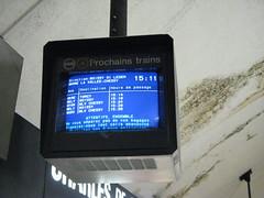 Paris RER next train monitor (brunoboris) Tags: paris underground subway publictransit monitor commuterrail etoile ratp wayfinding rer boissy torcy rera toile charlesdegaulleetoile prochainstrains heuredepassage