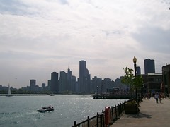 the skyline from navy pier