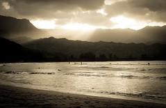 Copy of Kauai b&w54 (chiarina2016) Tags: kauai hawaii island beach monotone blackandwhite chiarinaloggia stormyseas waves trails hiking surf hanalei hanaleibeach sunset