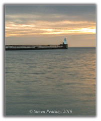 Blyth Pier (Steven Peachey) Tags: seascape sunrise sky clouds blyth pier coast canon sea lighthouse light morning winter exposure ef1740mmf4l canon6d stevenpeachey lightroom5 lee09gnd lee06gnd northeastcoast