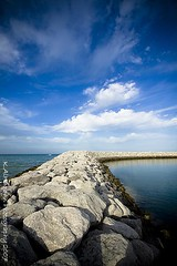 To the sky (Khalid AlHaqqan) Tags: blue sky clouds way marine rocks sigma kuwait 1020mm khalid alkout kuwson alhaqqan