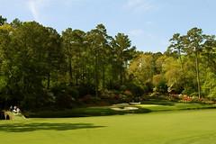 Tiger Woods on Hole #13 (Amen Corner)