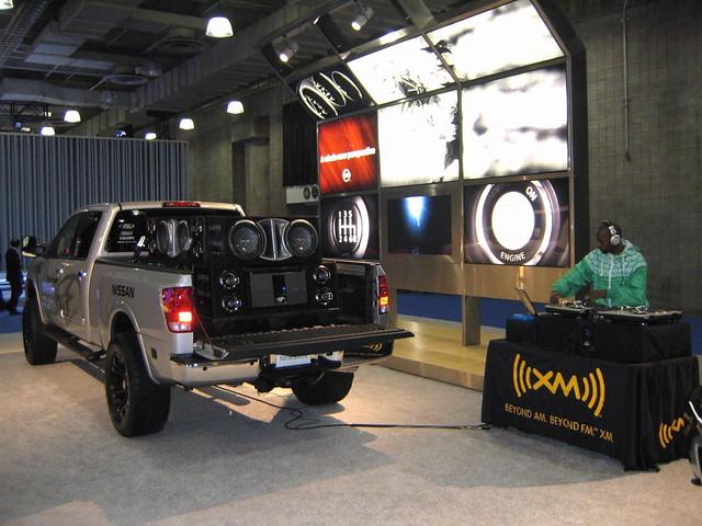 ice truck bed dj nissan sub pickup autoshow titan audio carshow xm rockford caraudio 2007 subwoofer nyias newyorkautoshow rockfordfosgate nyautoshow2007 newyorkcarshow