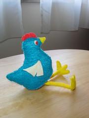Azul esta galinha