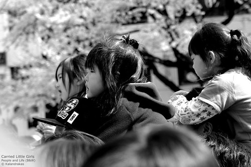 carried little girls -- japan bw b&w street blackandwhite sony little japan-in-bw girls carried japaninbw cute
