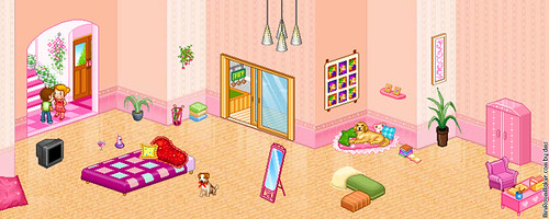 My Creation (Cute Girly Room) by (Stephanie) by miniroom.