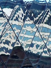 DSC02447  Alien Script (ftoomschb) Tags: newyorkcity blue white ny reflection building geometric glass architecture angle alien diamond diagonal explore 12 script abigfave impressedbeauty wowiekazowie