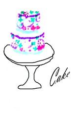 CAKE ON PEDASTAL