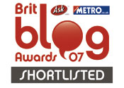 Shortlisted in the Metro Blog Awards