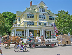 UPS Mackinac Island Style (***Bud***) Tags: summer horse color colour animal island hotel photo nikon photos michigan coolpix mackinacisland 8700 anawesomeshot impressedbeauty travelerphotos