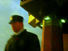 Stuck On The Line (O Caritas) Tags: nyc newyorkcity newyork blur collage train picasa amtrak trainstation april albany newyorknewyork conductor dirtywindow 2007 cominghome thebigapple nikoncoolpix8800 ocaritasutatafeature utata:enddesc= utata:startdesc= iwaitedandwaitedandwaitedforthisshottohappenanditdid collageoftwoversionsofthesameimage 2007bypatricktpowerallrightsreserved