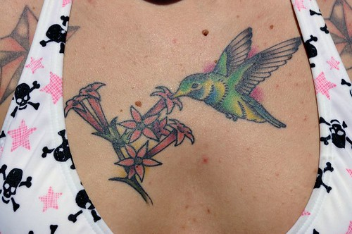 I plan on getting a hummingbird tattoo on the side of my lower back that