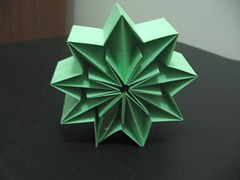 My attempt at Janet Yelle's Prism Star (georigami) Tags: paper origami papel papiroflexia corrugation origamiforum pleat corrugado