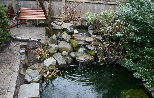 skippy s backyard waterfall started up rh carletonpond blogspot com Homemade Corner Waterfall Homemade Waterfall Box