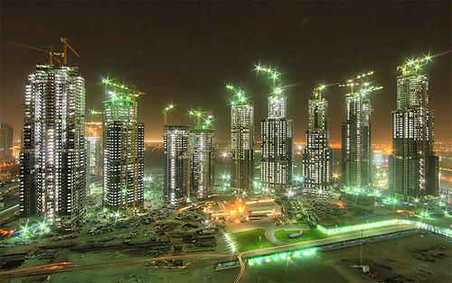 Фото ночного Dubai