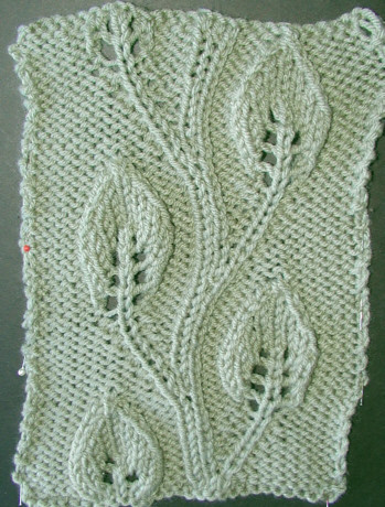 LEAF LACE KNIT PATTERN 1000 Free Patterns
