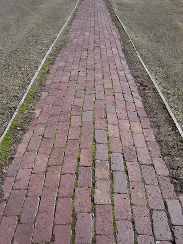 Mossy bricks.