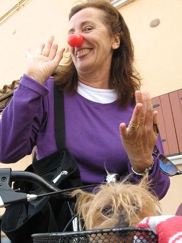 A clown in Peschiera, Italy