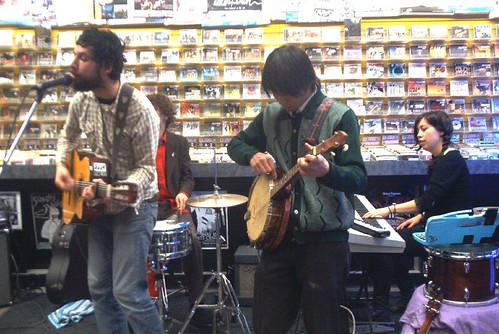 The Acorn live! in-store performance at Music Trader on April 2 2007