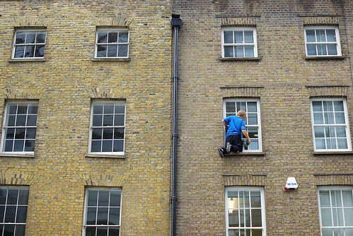 Cleaning windows - a madman's guide