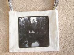 White of Black and White bag