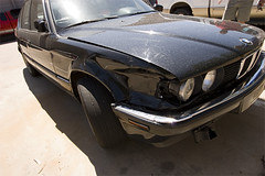 (brett.dugan) Tags: black broken smash damage bmw wreck totalled 735i